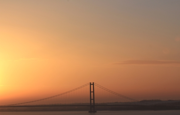 Humber Bridge, East Rising of Yorkshire, Sunrise, Photography