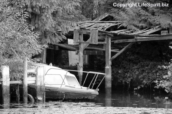 Boat, Boat Shed, Black and White, Photography, Life Spirit, Mark Conway