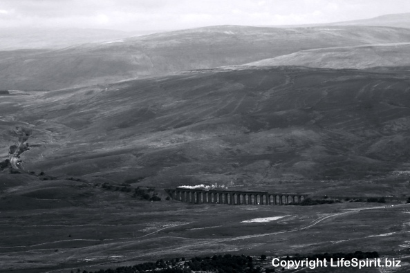 Yorkshire Dales, Railways, Trains, Settle, Carlisle, Mark Conway, Life Spirit, Landscape. Black and White